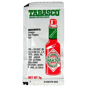 Tabasco Hot Sauce Packets