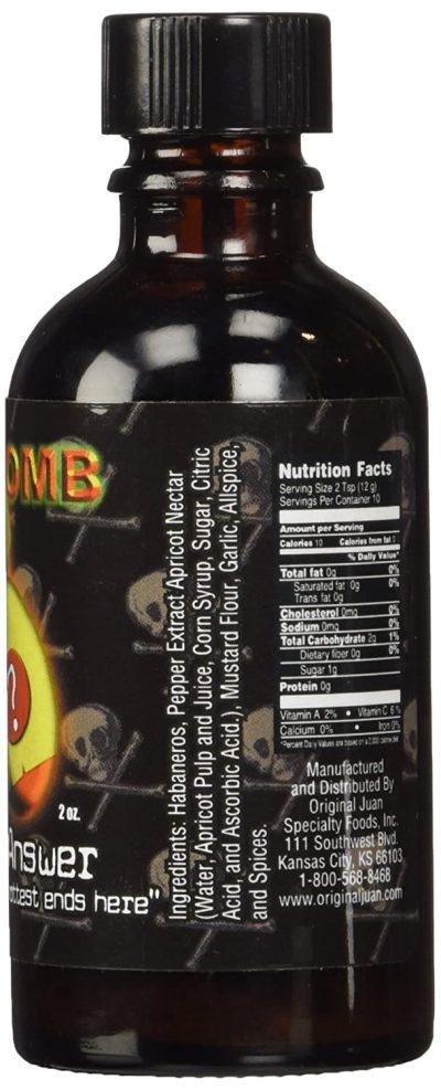 Da Bomb Hot Sauce Nutrition Facts
