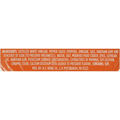 Heinz Buffalo Sauce Packet Ingredients