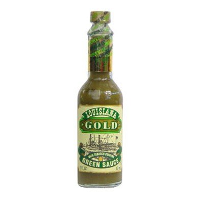 Louisiana Gold Green Sauce Tabasco Peppers 2oz
